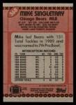 1990 Topps #368  Mike Singletary  Back Thumbnail