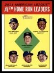 2012 Topps Heritage #4   -  Jose Bautista / Curtis Granderson / Mark Teixeira / Mark Reynolds / Adrian Beltre / Ian Kinsler NL HR Leaders Front Thumbnail