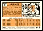 2012 Topps Heritage #26  Scott Baker  Back Thumbnail