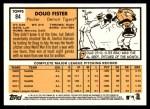 2012 Topps Heritage #84  Doug Fister  Back Thumbnail
