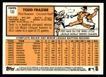 2012 Topps Heritage #133  Todd Frazier  Back Thumbnail