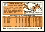 2012 Topps Heritage #188  Marco Scutaro  Back Thumbnail