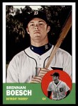 2012 Topps Heritage #302  Brennan Boesch  Front Thumbnail