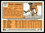 2012 Topps Heritage #323  Chase d'Arnaud  Back Thumbnail