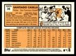 2012 Topps Heritage #346  Santiago Casilla  Back Thumbnail