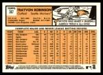 2012 Topps Heritage #367  Trayvon Robinson  Back Thumbnail