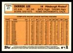 2012 Topps Heritage #477  Derrek Lee  Back Thumbnail