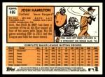 2012 Topps Heritage #486  Josh Hamilton  Back Thumbnail