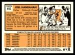 2012 Topps Heritage #492  Joel Hanrahan  Back Thumbnail