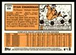 2012 Topps Heritage #494  Ryan Zimmerman  Back Thumbnail