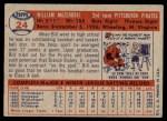 1957 Topps #24  Bill Mazeroski  Back Thumbnail