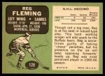 1970 Topps #128  Reg Fleming  Back Thumbnail