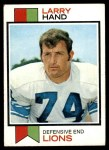 1973 Topps #93  Larry Hand  Front Thumbnail