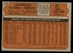1972 Topps #115  Jim Fregosi  Back Thumbnail