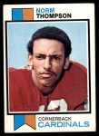 1973 Topps #72  Norm Thompson  Front Thumbnail
