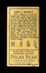 1911 T205  Jack Murray  Back Thumbnail