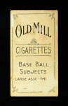 1909 T206  Dave Brain  Back Thumbnail