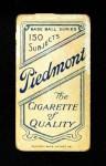 1909 T206  Jim Pastorius  Back Thumbnail