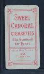 1909 T206  Bud Sharpe  Back Thumbnail