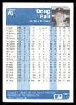 1984 Fleer #76  Doug Bair  Back Thumbnail