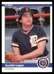 1984 Fleer #86  Aurelio Lopez  Front Thumbnail