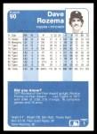 1984 Fleer #90  Dave Rozema  Back Thumbnail