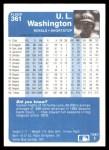 1984 Fleer #361  U.L. Washington  Back Thumbnail