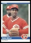 1984 Fleer #474  Eddie Milner  Front Thumbnail