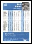 1984 Fleer #580  Bob Bailor  Back Thumbnail