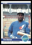 1984 Fleer #631   -  Tim Raines Letting Go Of The Raines Front Thumbnail