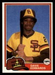 1981 Topps Traded #758 T Dave Edwards  Front Thumbnail