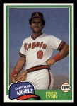 1981 Topps Traded #797 T Fred Lynn  Front Thumbnail