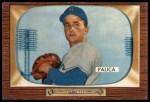 1955 Bowman #195 xTR Erv Palica  Front Thumbnail