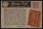 1955 Bowman #213  George Kell  Back Thumbnail