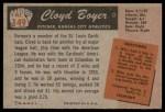 1955 Bowman #149  Cloyd Boyer  Back Thumbnail