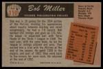 1955 Bowman #110  Bob Miller  Back Thumbnail