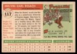 1955 Topps #117  Mel Roach  Back Thumbnail