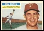 1956 Topps #220  Del Ennis  Front Thumbnail