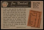 1955 Bowman #194  Joe Nuxhall  Back Thumbnail