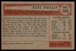 1954 Bowman #163 A Dave Philley  Back Thumbnail