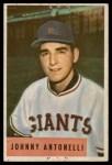 1954 Bowman #208  Johnny Antonelli  Front Thumbnail