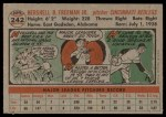 1956 Topps #242  Hersh Freeman  Back Thumbnail