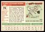 1955 Topps #70  Al Rosen  Back Thumbnail