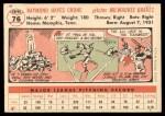 1956 Topps #76  Ray Crone  Back Thumbnail