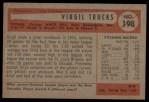 1954 Bowman #198  Virgil Trucks  Back Thumbnail