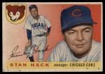 1955 Topps #6  Stan Hack  Front Thumbnail
