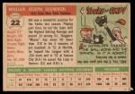 1955 Topps #22  Bill Skowron  Back Thumbnail