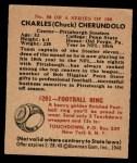 1948 Bowman #50  Charles Cherundolo  Back Thumbnail