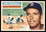 1956 Topps #143 WHT Jimmy Piersall  Front Thumbnail