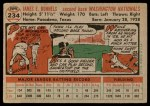 1956 Topps #234  Pete Runnels  Back Thumbnail